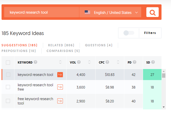Free Keyword Research Tool