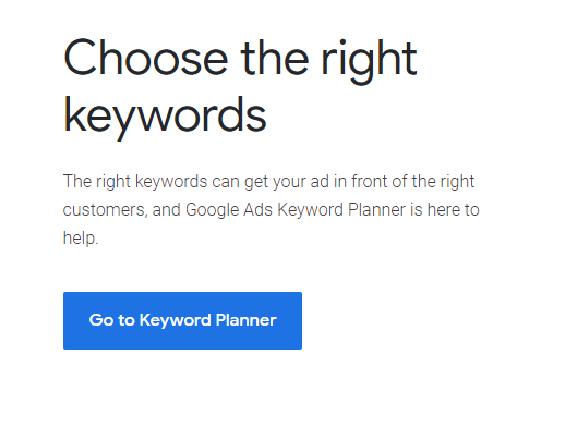 Go To Keyword Planner