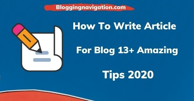How To Write Article