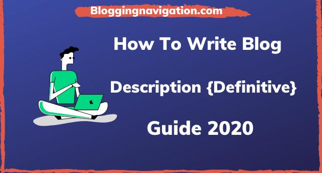 Blog Description