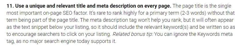 search engine land says on meta description
