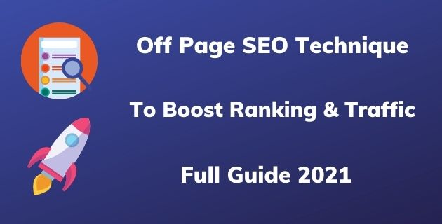 Off Page SEO Technique