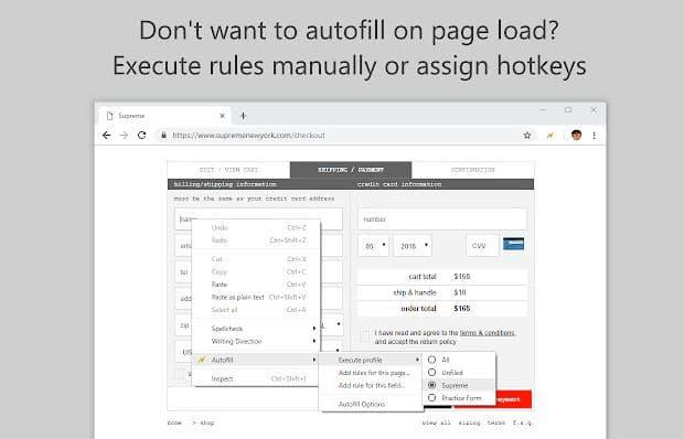 Autofill Chrome Extension