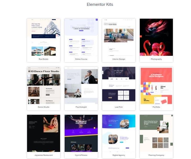 Elementor Pre Design Templates