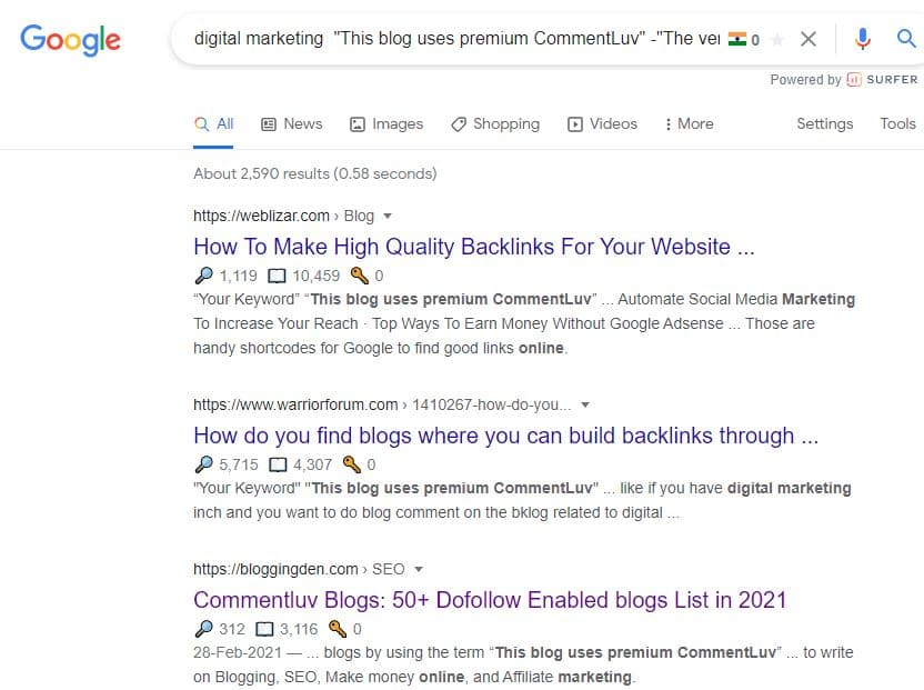 Comment Backlink Drop my link