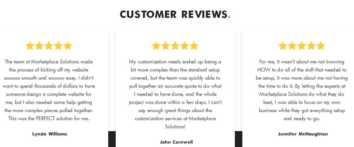 Customer Reviews on Shopify Theme