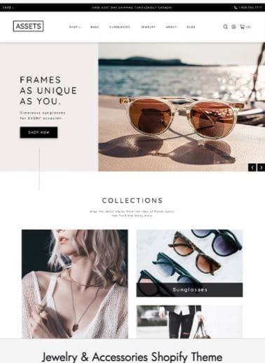 Jewelry and Accessories Shopify Theme