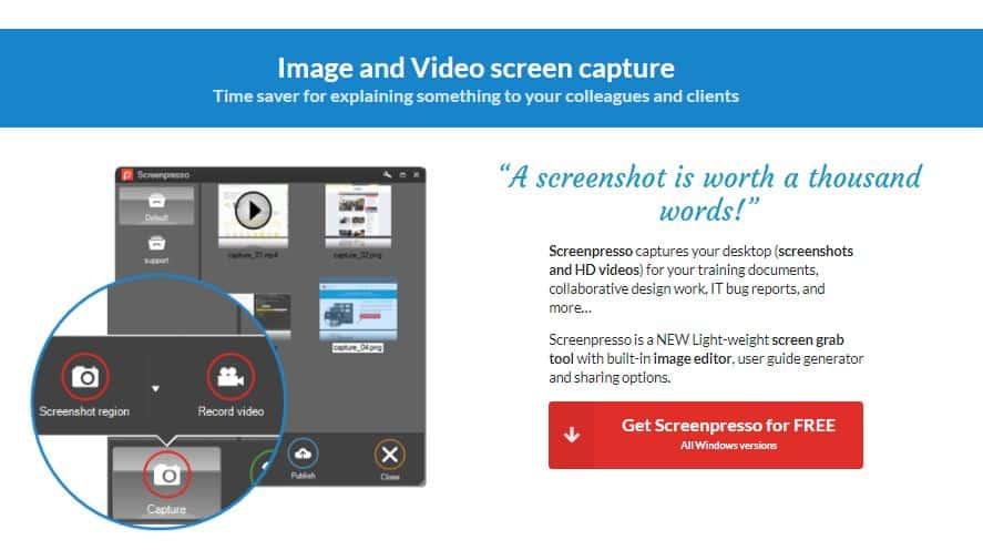 ScreenPresso Free Software