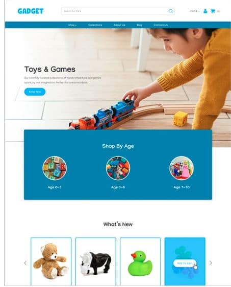 Toys and Games Shopify themes