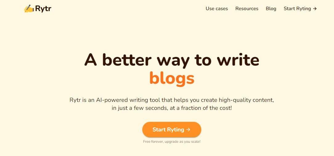 Rytr AI Software