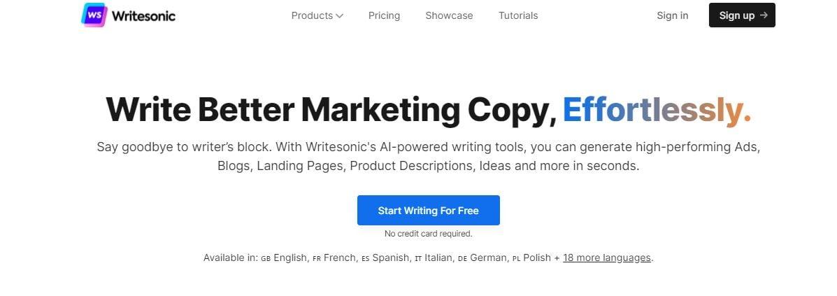 WriterSonic